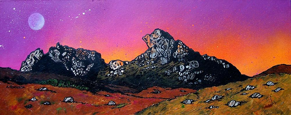 Scottish painting & prints of The Cobbler, Ben Arthur, Arrochar, Scottish Western Highlands.