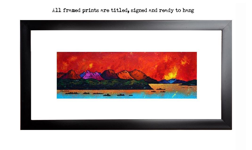 Framed print of Cuillin Red Sunrise, Isle of Skye, Scotland.
