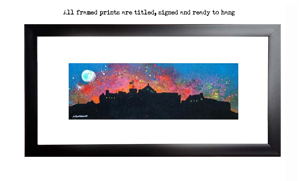 Framed print of edinburgh Castle fireworks, new year, scotland
