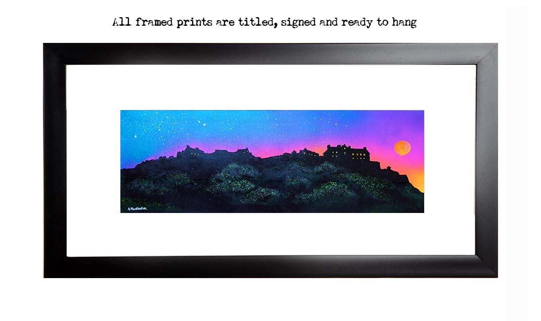Edinburgh Castle framed print, picture, Scotland.