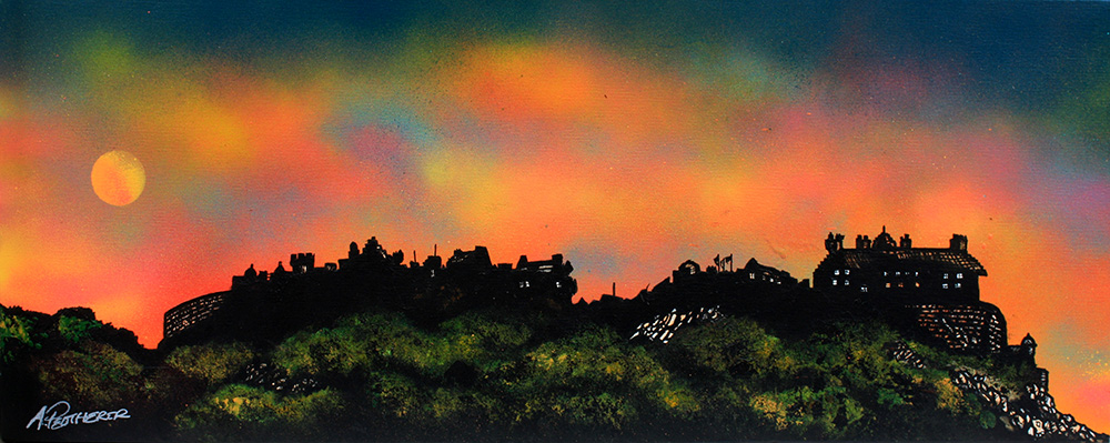Edinburgh castle painting and prints, Scotland