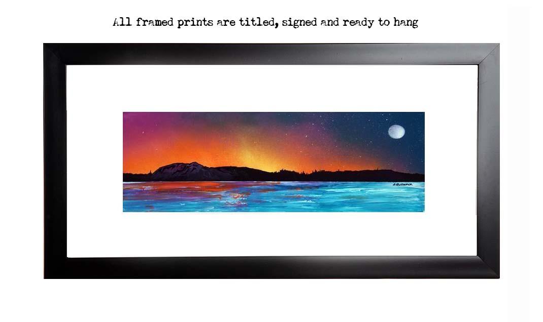Framed print of Edinburgh from the river Forth, Scotland