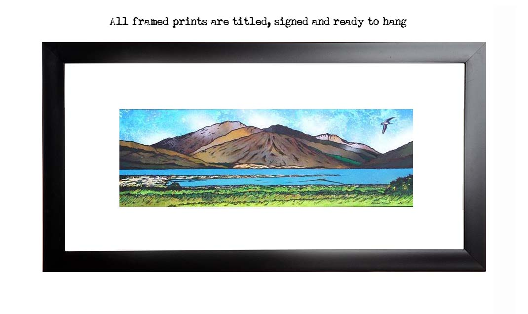 Framed prints of Glen Elg , West Coast of Scotland overlooking The Isle of Skye