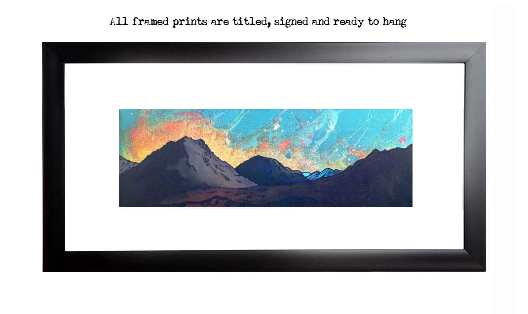 Framed print of Glen Etive Sunset, Scottish Highlands.