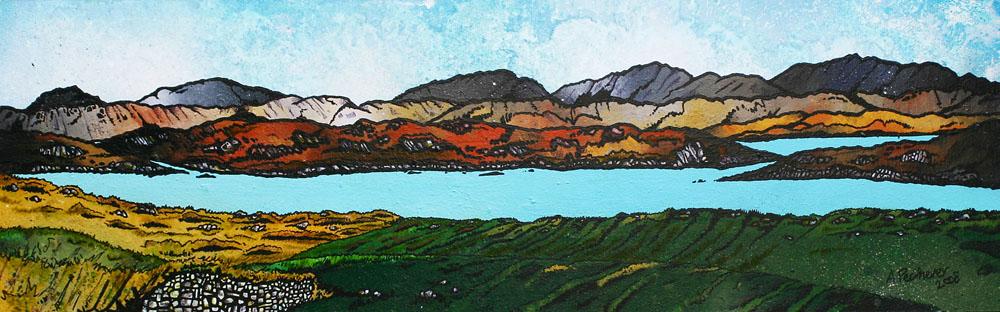 Painting & prints of Loch Roag, Near Callanais, Isle Of Lewis, Scotland.