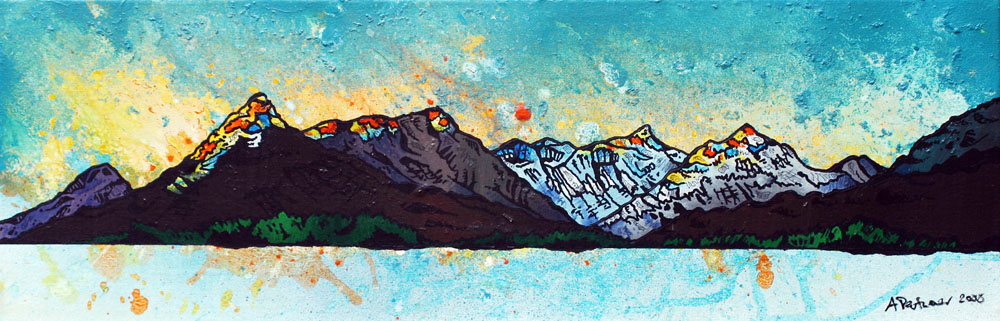 Painting and prints of Glencoe, loch Leven, Scottish Highlands.