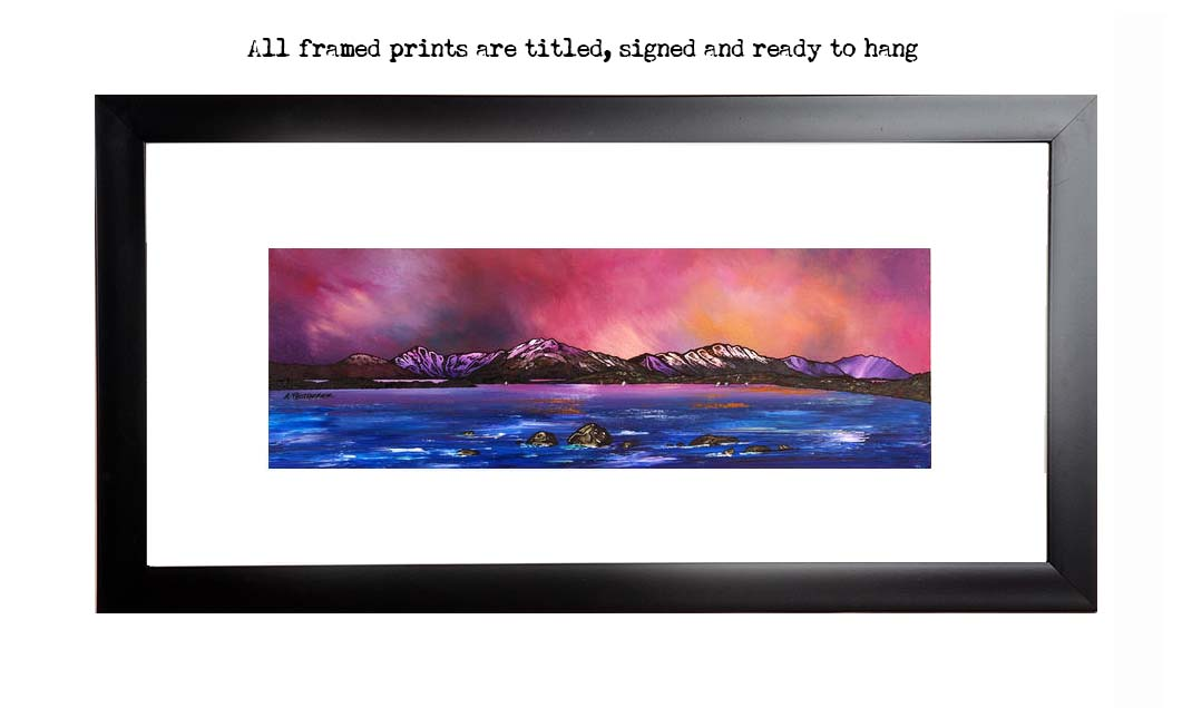 Framed print of Loch Lomond Dusk From Near Balmaha, Highlands, Scotland.