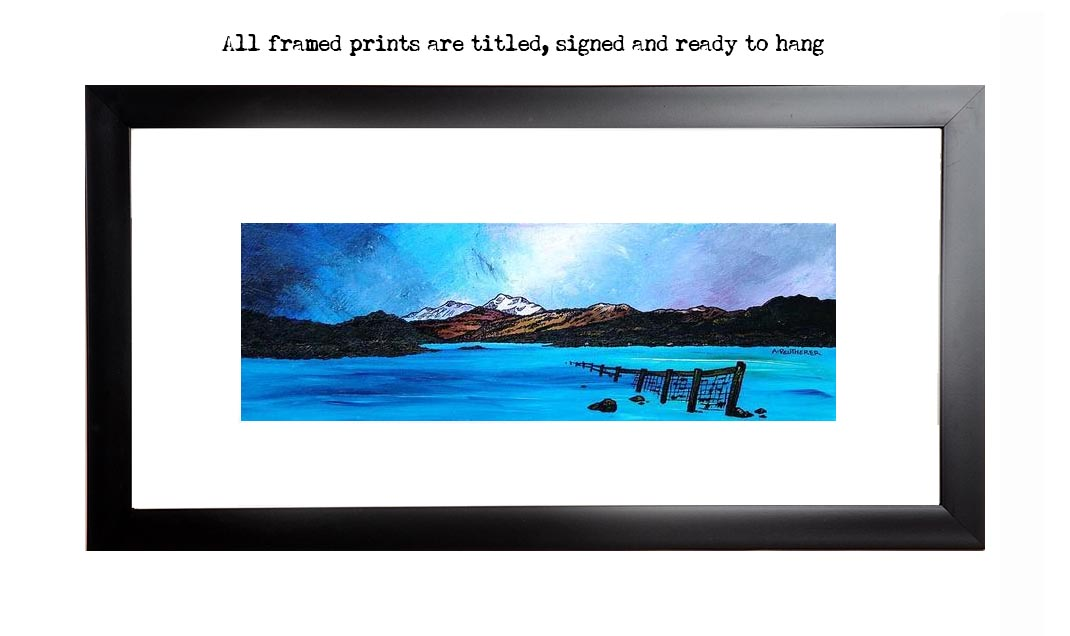 framed print of Ben Lomond and Loch Lomond, winter, Scotland