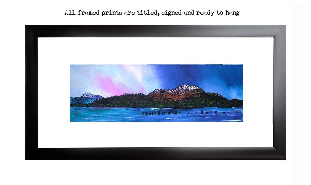 Framed print of Ben Lomond Winter Sky, Loch Lomond, Scottish Highlands.