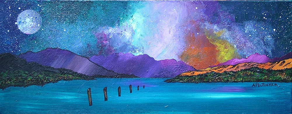 loch lomond from luss, painting and prints, Scotland, highlands.