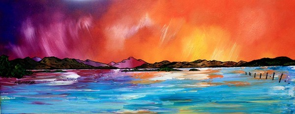 Loch lomond-painting-print-Scotland-art-Scottish-Luss