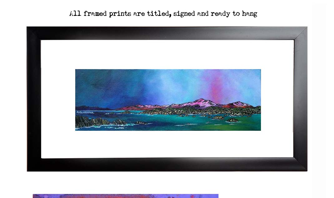 Framed print of Mull & Iona, Scottish Western Isles