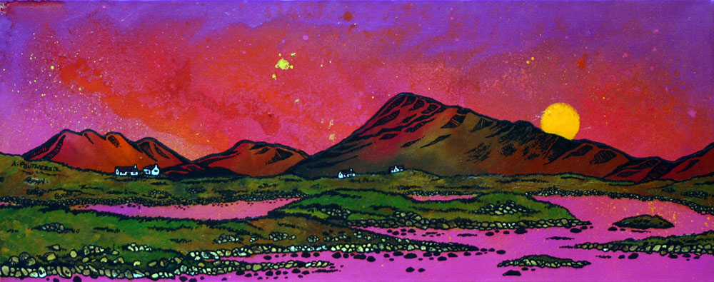 Painting & prints of North Uist & Eaval (Eabhal), Scottish Western Isles.