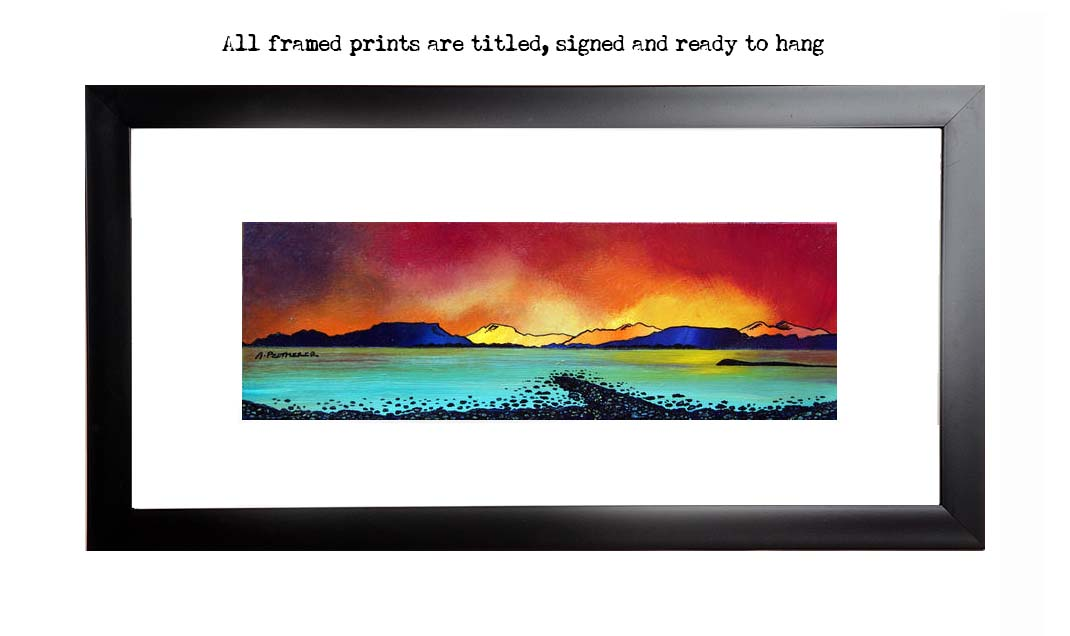 framed print of Oban Bay Sunset, Scotland.