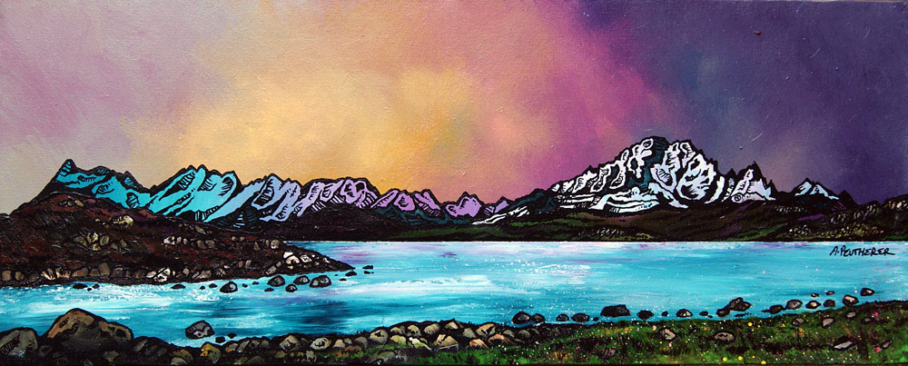 Painting & prints of Ord Bay, Isle Of Skye, Scottish Western Isles.