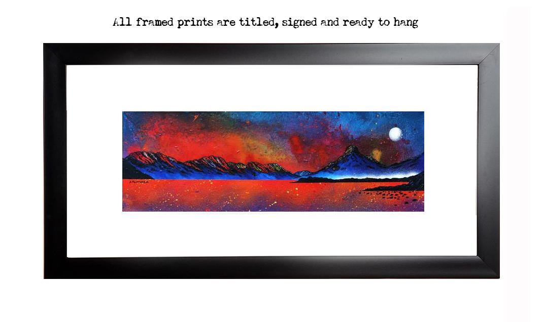 Framed print of Pap of Glencoe Sunrise over Loch Leven, Ballachulish, Argyll, Scotland.