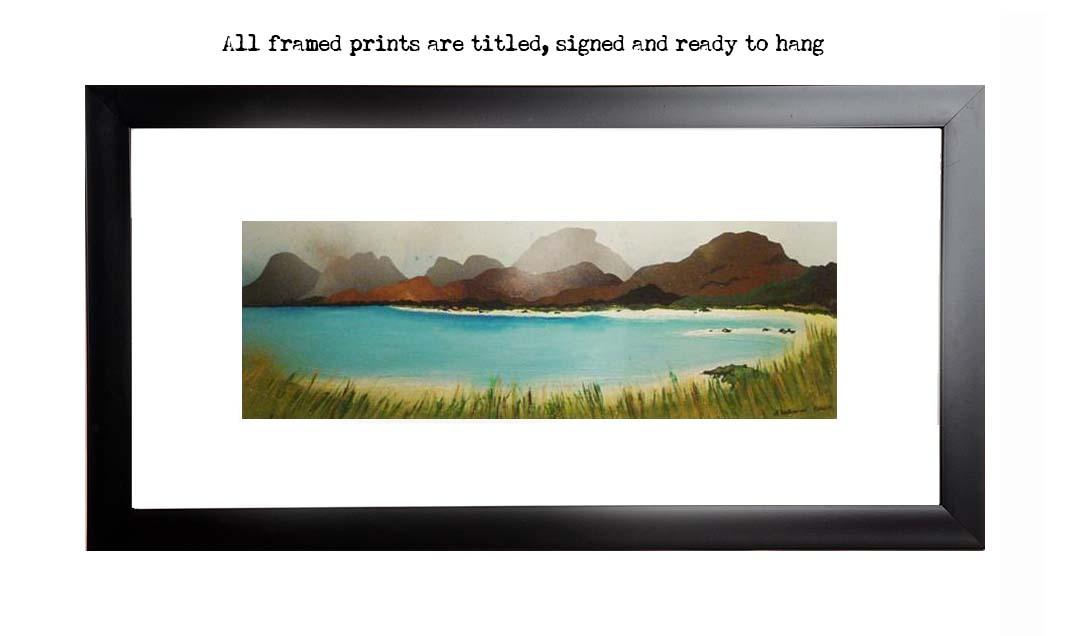 Framed print of Seilebost Beach, Isle of Harris, Outer Hebrides, Scotland.