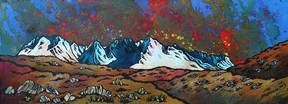 Scottish landscape oil Painting and prints of The Isle of Skye & The Black Cuillin, Hebrides, Scotland