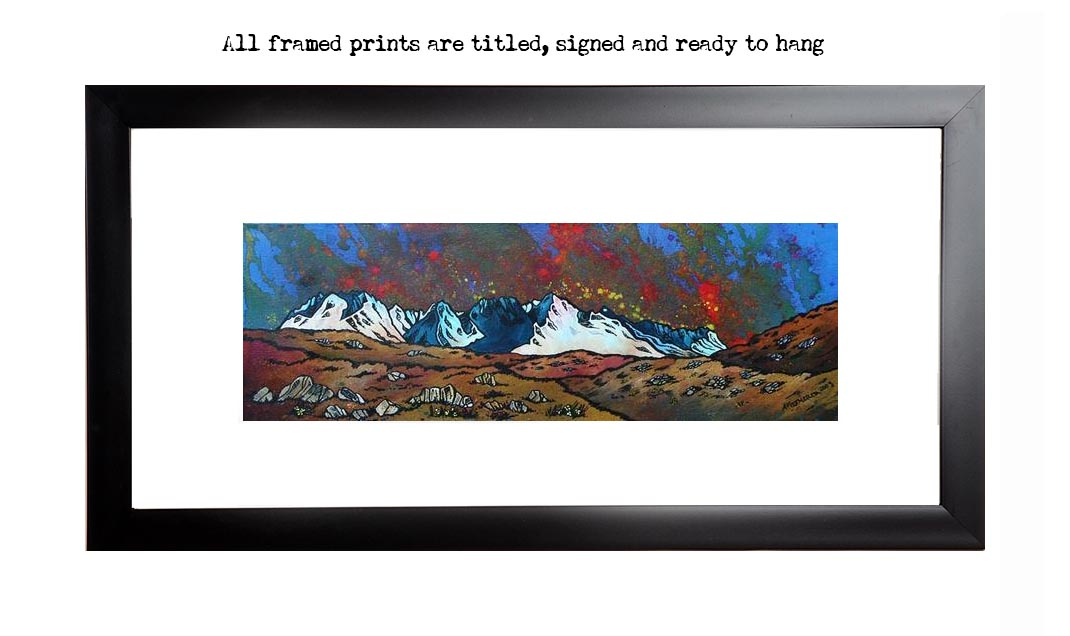 Framed print of Black Cuillin Sunset, The Isle of Skye, Scottish Inner Hebrides, Scotland