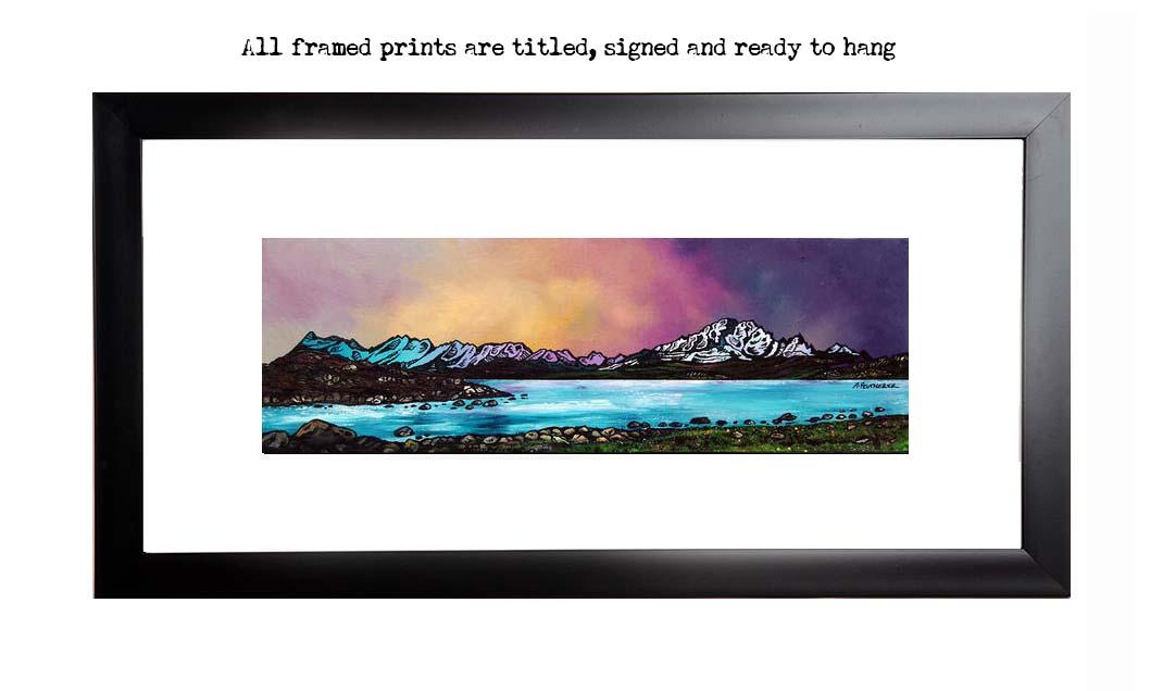 Framed print of Ord Bay Dusk, Isle Of Skye, Scottish Western Isles.