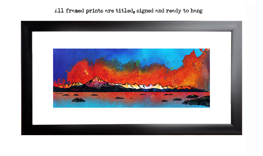 Framed prints of Skye From Arnish Bay Sunset,Hebrides,