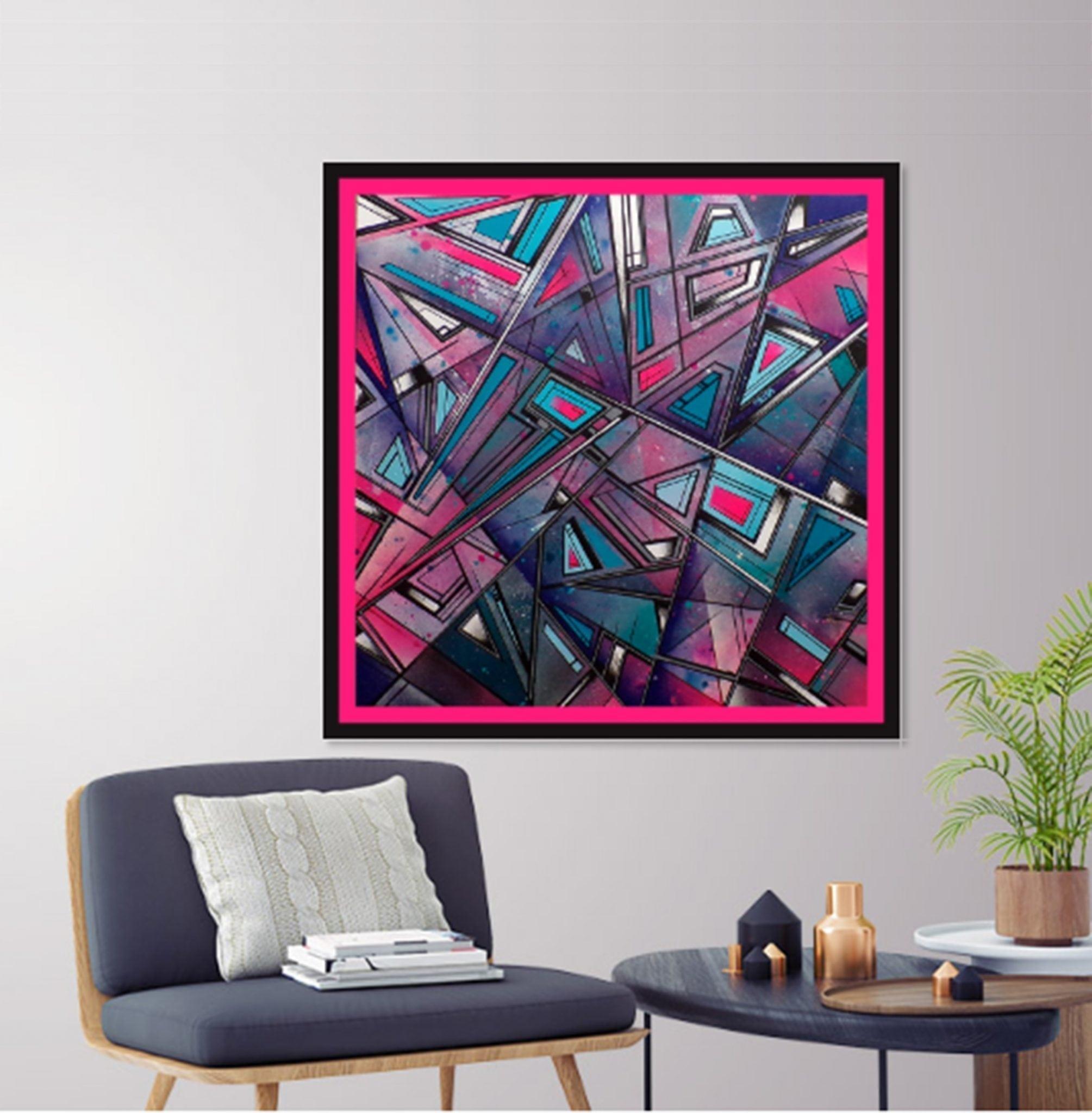 Streetskate 1 -An abstract geometric painting, insitu image