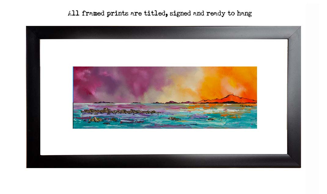 Western isles framed print, Scotland by scottish artist A Peutherer