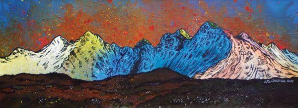 Paintings & Prints – The Cuillin Across The Moor, Isle of Skye, Scottish Inner Hebrides, Scotland