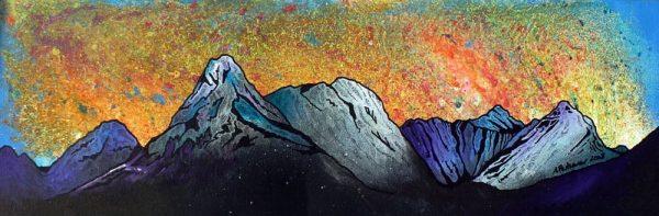 Paintings & Prints – Bla Bheinn Winter Sunset, Isle of Skye, Scottish Hebrides.