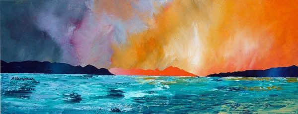 Paintings and Prints – Huisinis Sunset, Isle Of Harris, Scottish Outer Hebrides.