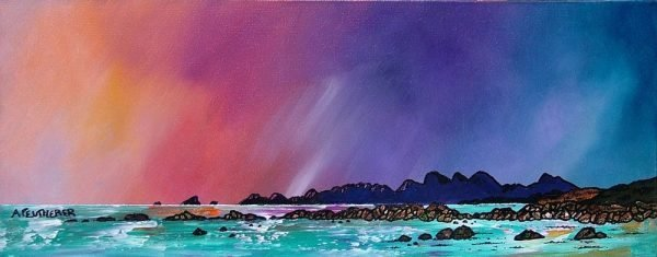 Paintings & Prints – Saligo Bay Winter Sunset, Isle of Islay , Scottish Western Isles.