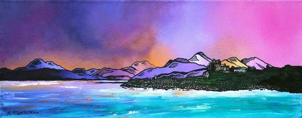 Paintings & Prints – Duart Castle Winter Sky, Isle Of Mull, Scottish Inner Hebrides.