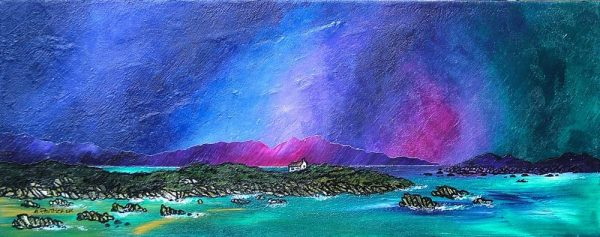 Paintings & Prints – Storm Over Mull from Iona, Scottish Inner Hebrides.