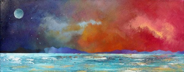 Paintings & Prints – Mull Sunset From Ganavan, near Oban, Scotland.
