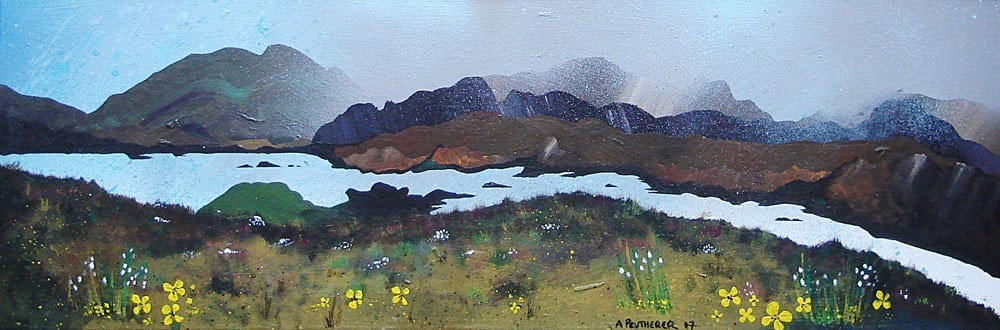 Painting & prints of Loch Seaforth, Isle Of Harris, Outer Hebrides, Scotland.