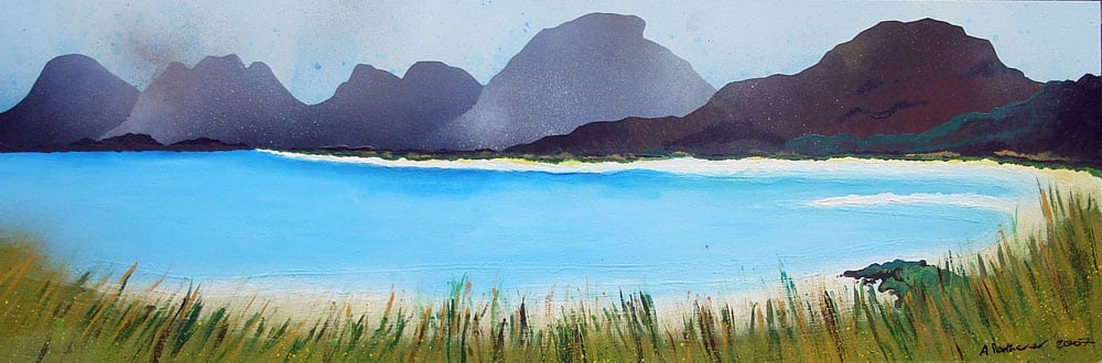 Painting & prints of Seilebost, Isle of Harris, Outer Hebrides, Scotland.